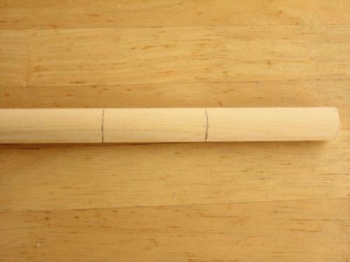 バチの線の位置